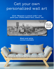 Panoramic Pittsburgh Cityscape Canvas Wall Art - Image 1