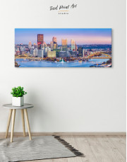 Panoramic Pittsburgh Cityscape Canvas Wall Art - Image 3