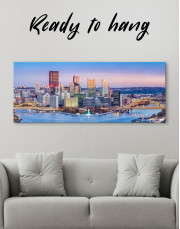 Panoramic Pittsburgh Cityscape Canvas Wall Art