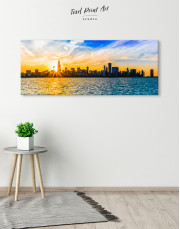 Panoramic Chicago Skyline Canvas Wall Art - Image 1