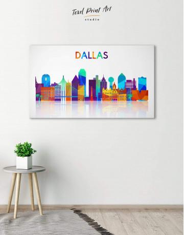 Dallas Silhouette Canvas Wall Art