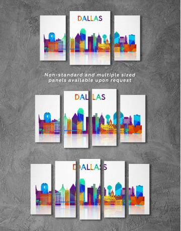 Dallas Silhouette Canvas Wall Art - image 4