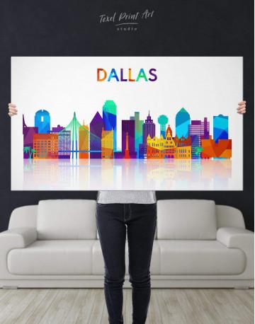 Dallas Silhouette Canvas Wall Art - image 2