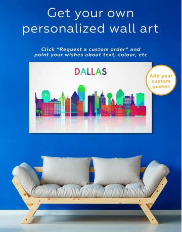 Dallas Silhouette Canvas Wall Art - image 5