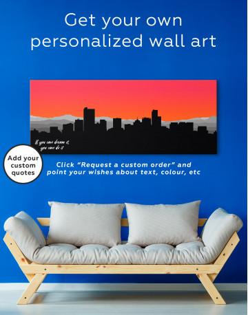 Panoramic Colorado Denver Silhouette Canvas Wall Art - image 2