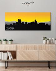 Panoramic Colorado Denver Silhouette Canvas Wall Art - Image 4