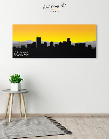 Panoramic Colorado Denver Silhouette Canvas Wall Art - image 1