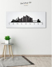 Black and White Vancouver Canvas Wall Art - Image 4