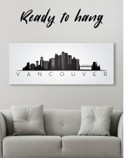 Black and White Vancouver Canvas Wall Art