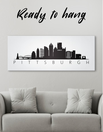 Black and White Pittsburgh Canvas Wall Art