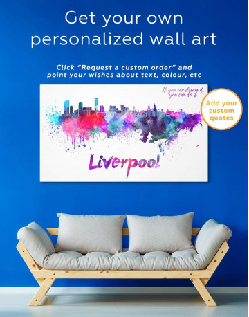 Liverpool Silhouette Canvas Wall Art - image 5