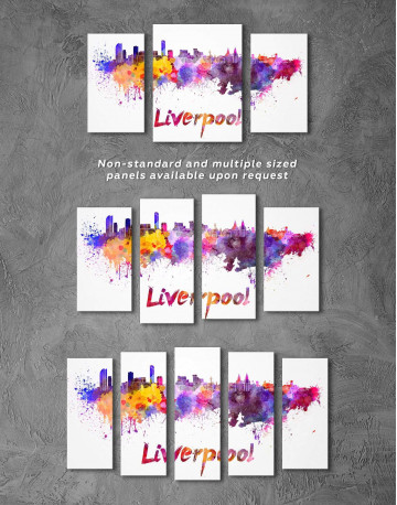Liverpool Silhouette Canvas Wall Art - image 4
