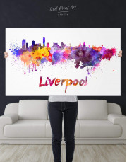 Liverpool Silhouette Canvas Wall Art - Image 2