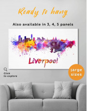 Liverpool Silhouette Canvas Wall Art