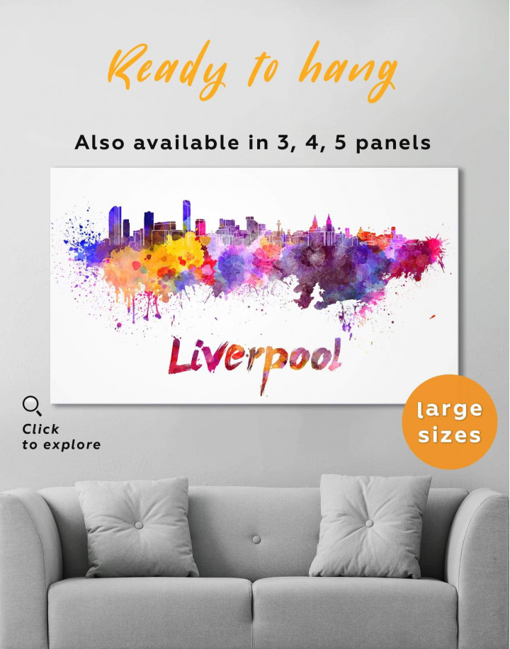 Liverpool Silhouette Canvas Wall Art - Image 0