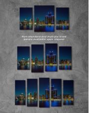 Night Detroit Skyline Canvas Wall Art - Image 5