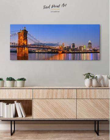 Panoramic Cincinnati Scenic View Canvas Wall Art - image 2