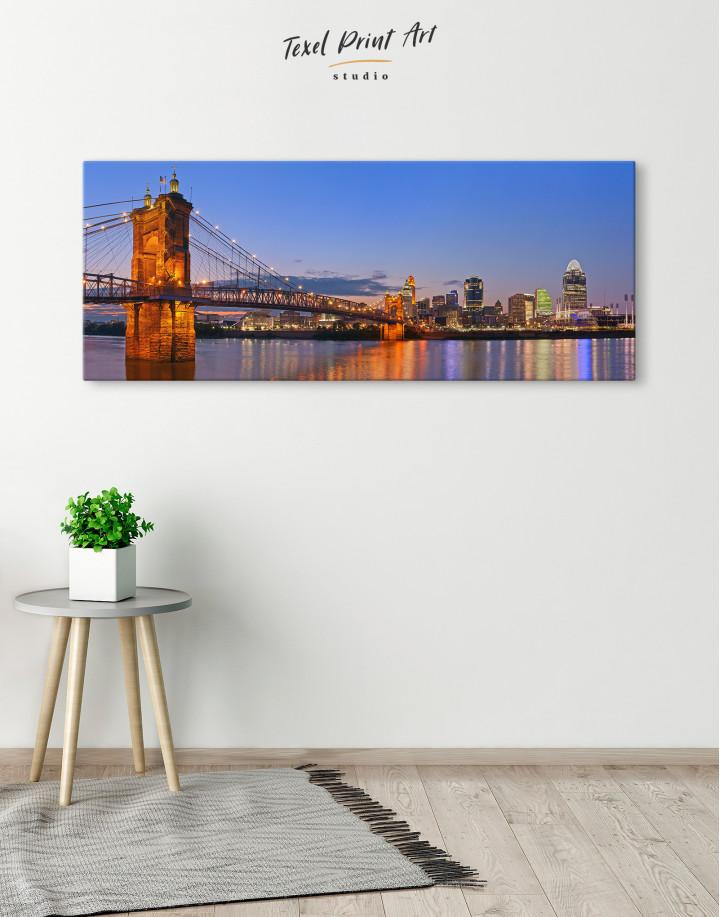 Panoramic Cincinnati Scenic View Canvas Wall Art - Image 1