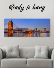 Panoramic Cincinnati Scenic View Canvas Wall Art