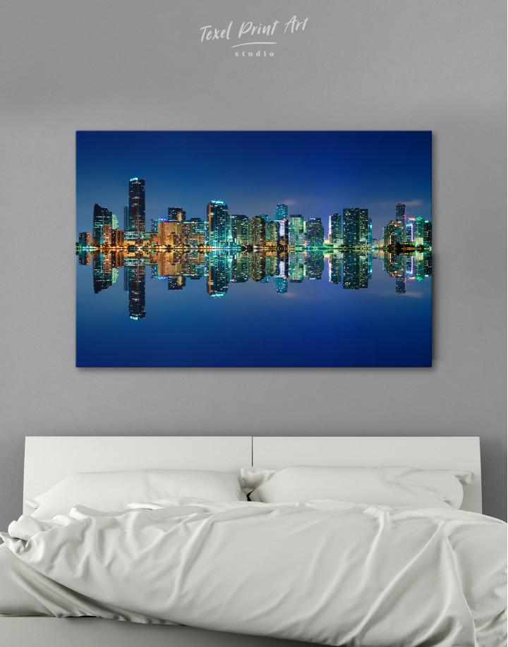 Night City Skyline Lights Canvas Wall Art - Image 6