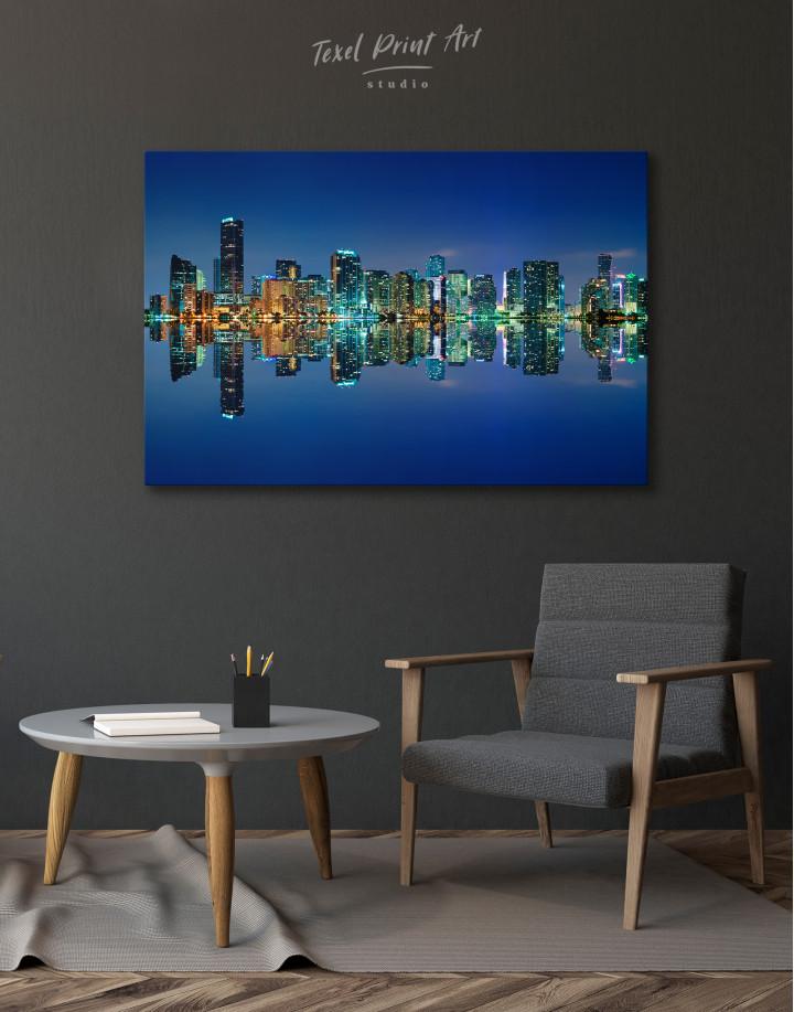 Night City Skyline Lights Canvas Wall Art - Image 3