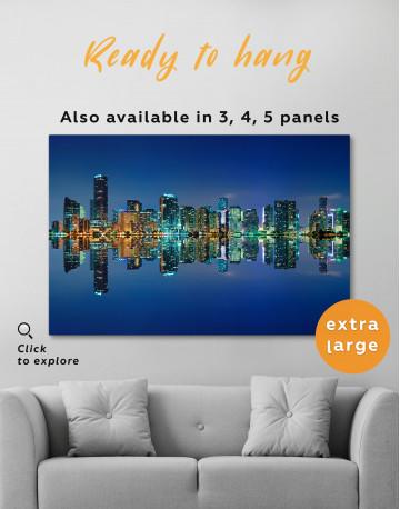 Night City Skyline Lights Canvas Wall Art - image 2