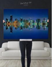Night City Skyline Lights Canvas Wall Art - Image 8
