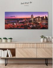 Panoramic Cincinnati Ohio Cityscape Canvas Wall Art - Image 3