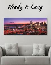 Panoramic Cincinnati Ohio Cityscape Canvas Wall Art