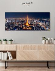Night Panoramic Tokyo Cityscape Canvas Wall Art - Image 2