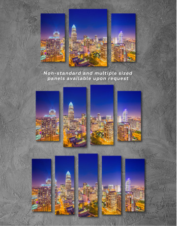 Night Raleigh Cityscape Canvas Wall Art - image 4