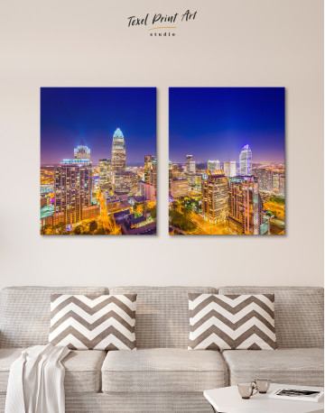 Night Raleigh Cityscape Canvas Wall Art - image 7