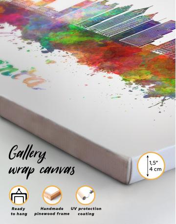 Colorful Atlanta Silhouette Canvas Wall Art - image 9