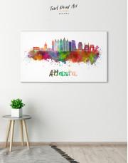 Colorful Atlanta Silhouette Canvas Wall Art - Image 8