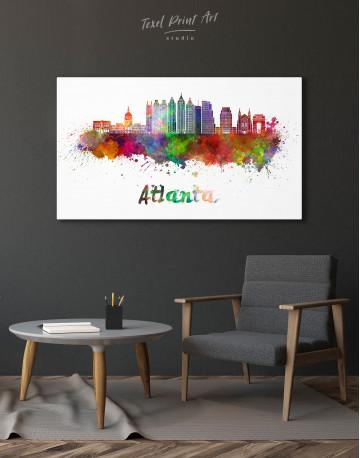 Colorful Atlanta Silhouette Canvas Wall Art - image 3