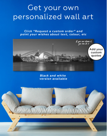 Panoramic Sydney Opera House Cityscape Canvas Wall Art - image 4