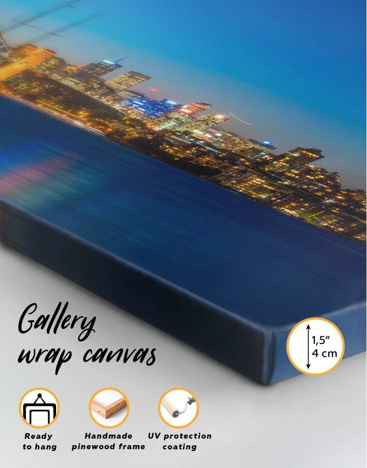 Panoramic Sydney Opera House Cityscape Canvas Wall Art - Image 2