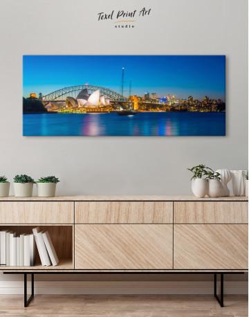 Panoramic Sydney Opera House Cityscape Canvas Wall Art - image 1