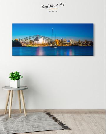 Panoramic Sydney Opera House Cityscape Canvas Wall Art - image 3