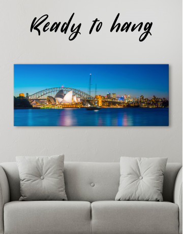 Panoramic Sydney Opera House Cityscape Canvas Wall Art