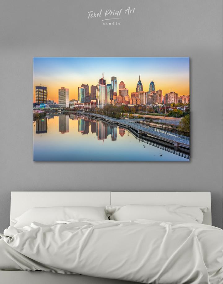 Schuylkill Banks Philadelphia View Canvas Wall Art