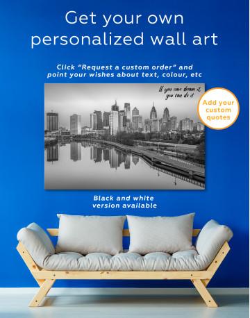 Schuylkill Banks Philadelphia View Canvas Wall Art - image 6