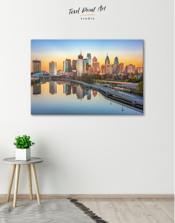 Schuylkill Banks Philadelphia View Canvas Wall Art - image 5