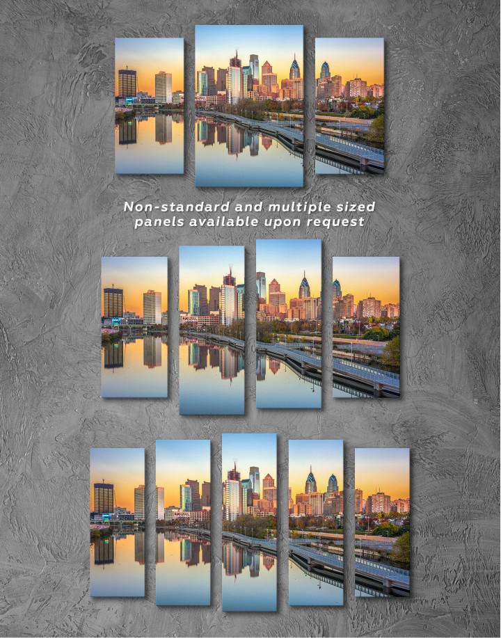 Schuylkill Banks Philadelphia View Canvas Wall Art - Image 4