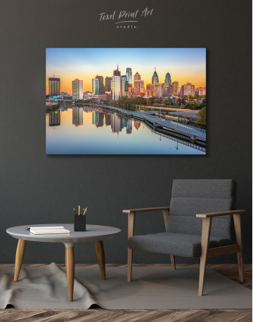 Schuylkill Banks Philadelphia View Canvas Wall Art - image 2