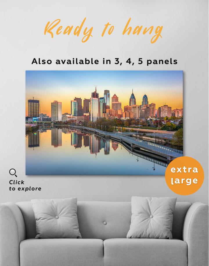 Schuylkill Banks Philadelphia View Canvas Wall Art - Image 3