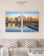 Schuylkill Banks Philadelphia View Canvas Wall Art - Image 9