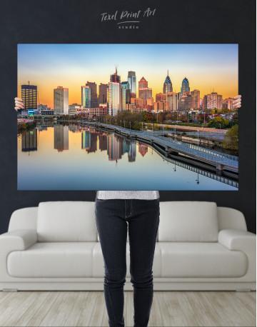 Schuylkill Banks Philadelphia View Canvas Wall Art - image 8