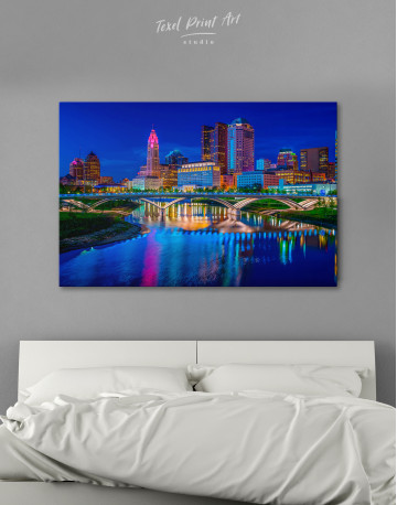Night Bicentennial Park Syndey Scenic View Canvas Wall Art