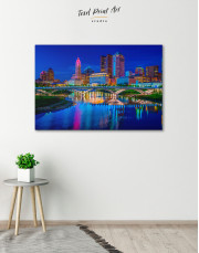 Night Bicentennial Park Syndey Scenic View Canvas Wall Art - Image 4